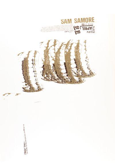 CalArts poster: Sam Samore by Kevin Lyons