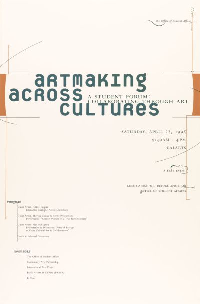 CalArts poster: Artmaking accross cultures by Glen Nakasako