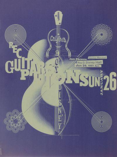 CalArts poster: Jon Parsons Guitar Recital by Jens Gehlhaar