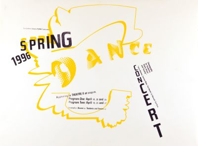 CalArts poster: Spring Dance Concert by Shoshannah Day Strauss