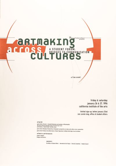 CalArts poster: Artmaking across cultures by Glen Nakasako