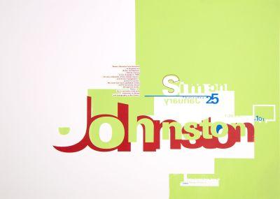 CalArts poster: Simon Johnston by Sibylle Hagmann
