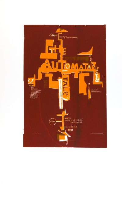 CalArts poster: The Automatan's Tale by Christopher Selby
