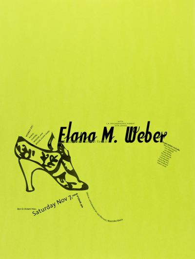 CalArts poster: Elana M. Weber MFA Graduation Clarinet Recital by Erika Loseman Mary Church