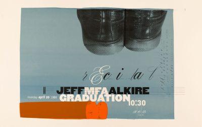 CalArts poster: MFA Graduation Recital Jeff Alkire by