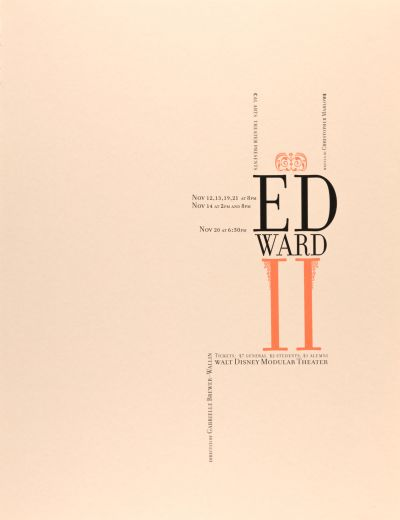 CalArts poster: Edward II by Paul Wehby Anders Carleo