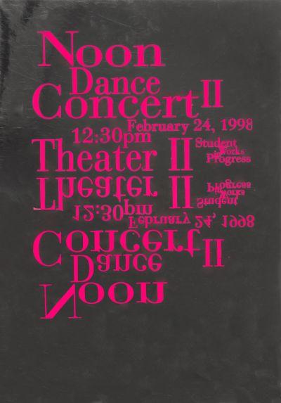 CalArts poster: Noon Dance Concert II by