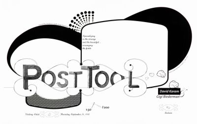 CalArts poster: Post Tool by Sharon Cardinal Alex Louie