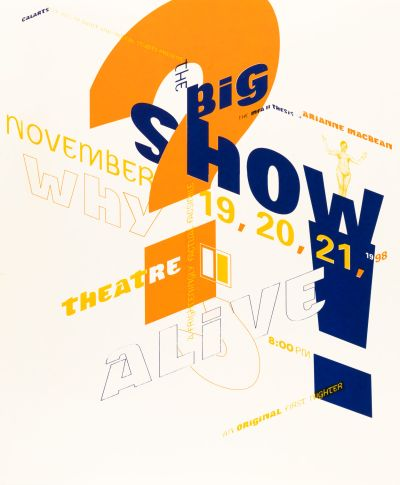 CalArts poster: The Big Show! by Micah Hahn