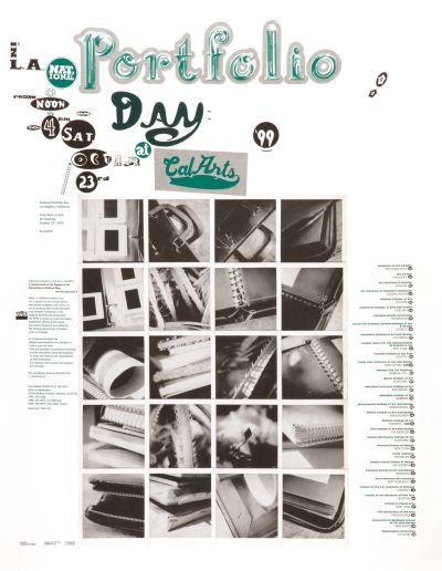 CalArts poster: Portfolio Day by Ed Fella