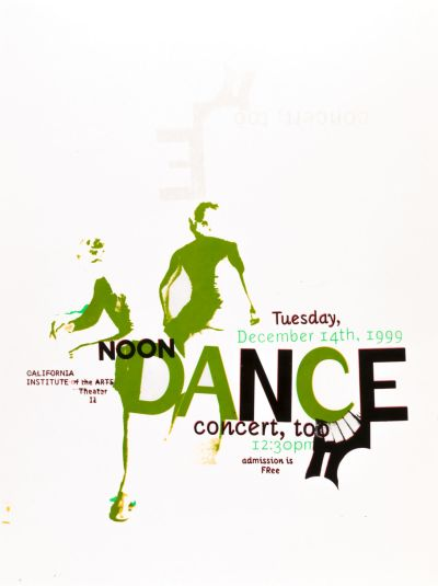 CalArts poster: Noon Dance Concert by John Wiese