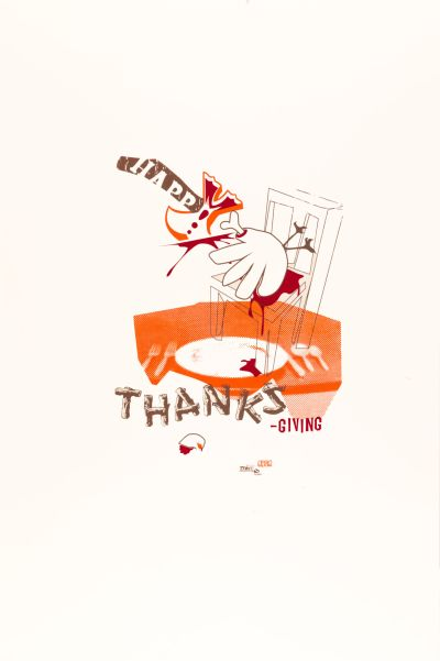 CalArts poster: Happy Thanksgiving by Andrew Bernet