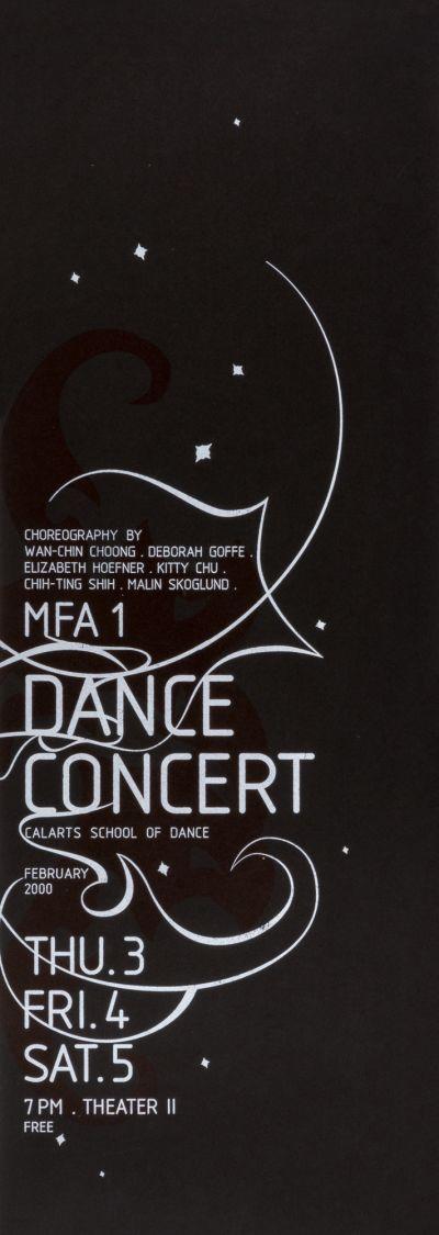 CalArts poster: MFA1 Dance Concert by Petra Michel