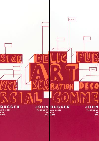 CalArts poster: John Dugger by Sophie Dobrigkeit