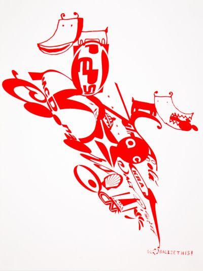 CalArts poster: Globalize This! by Daniela Marx Tuan Phan