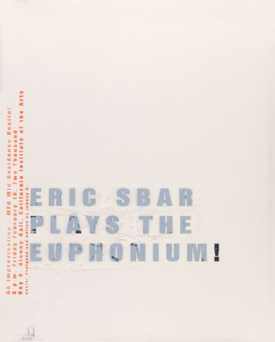 CalArts poster: Eric Sbar Plays The Euphonium by John Kieselhorst