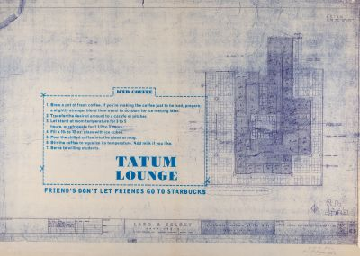 CalArts poster: Tatum Lounge by Brian Roettinger