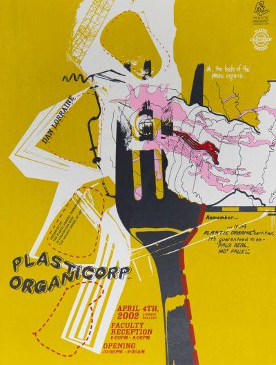 CalArts poster: Plastic Organic Corp. by Brad Tucker