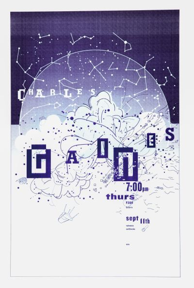 CalArts poster: Charles Gains by Max Erdenberger Megan McGinley