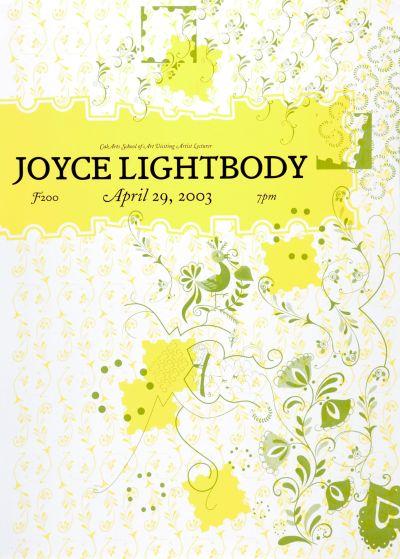 CalArts poster: Joyce Lightbody by Bruce Sachs