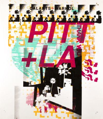 CalArts poster: Pitt+LA by