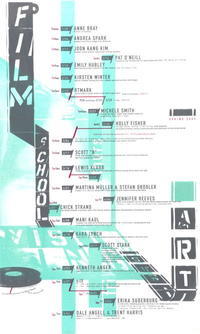 CalArts poster: Film School Visiting Artists by Emily Morishita