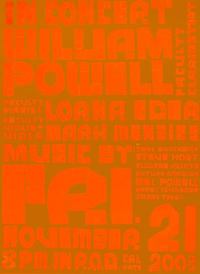 CalArts poster: In Concert William Powell, Lorena Edea & Mark Menzies by