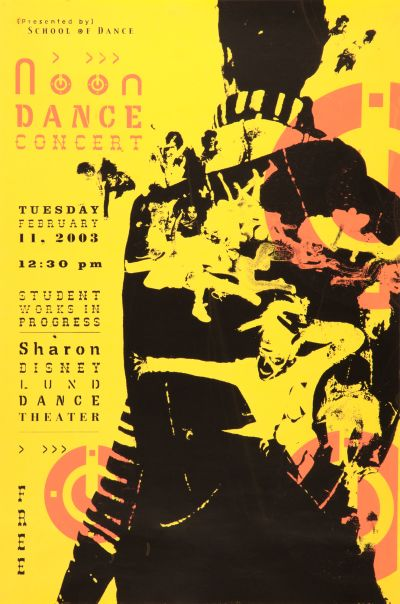 CalArts poster: Noon Dance Concert by