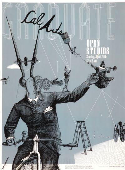 CalArts poster: Graduate Open Studios by Charlie Tredwell Erik Buckham