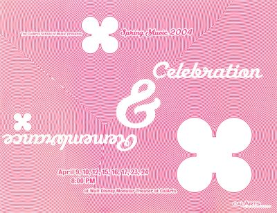 CalArts poster: Spring Music 2004: Celebration & Remembrance 2 by Jae-Hyouk Sung