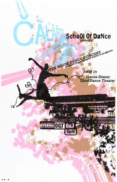 CalArts poster: Open House Dance Concert by