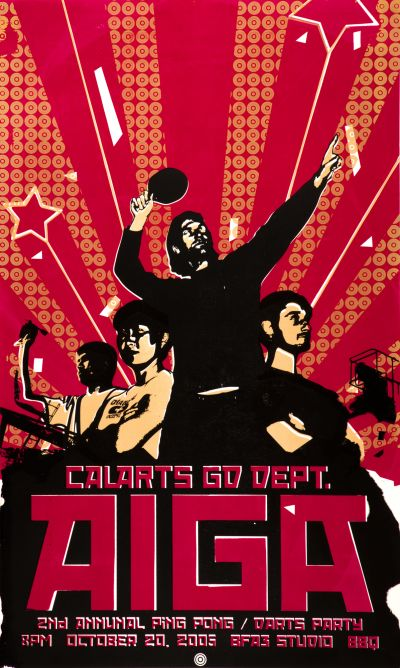 CalArts poster: CalArts AIGA Ping Pong Party by Sean Boyle