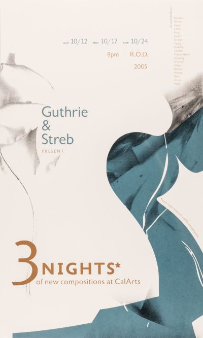 CalArts poster: 3 Nights by Adrian Parra Roman Jaster