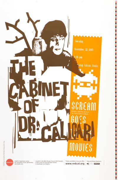 CalArts poster: The Cabinet Of Dr. Caligari by Matthew Resnik