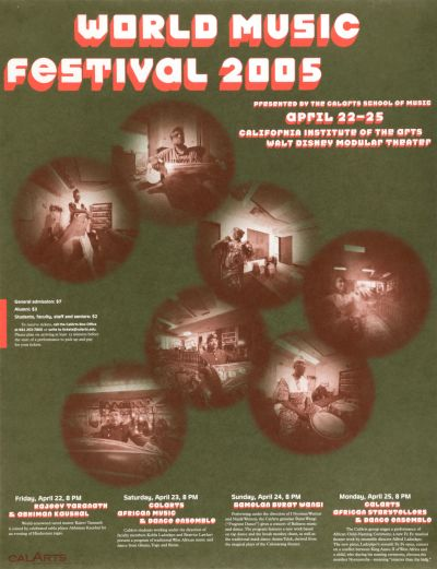 CalArts poster: World Music Festival 2005 2 by Jae-Hyouk Sung