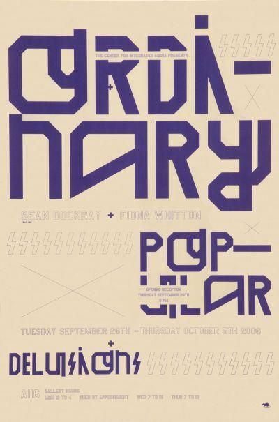 CalArts poster: Ordinary Popular by Florencio Zavala