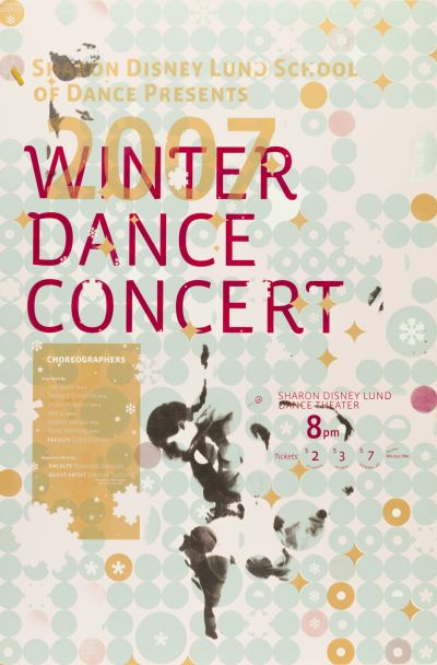 CalArts poster: 2007 Winter Dance Concert by Esther Choi