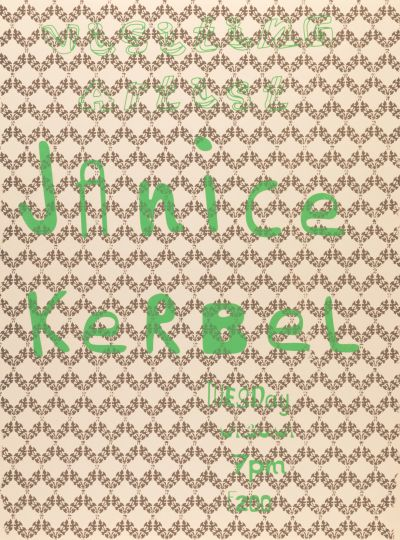 CalArts poster: Janice Kerbel by Karen Hirt