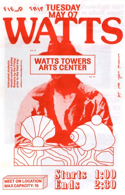 CalArts poster: Watts 1 by Stefano Giustiniani