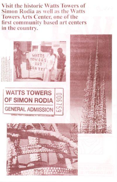 CalArts poster: Watts 2 by Stefano Giustiniani