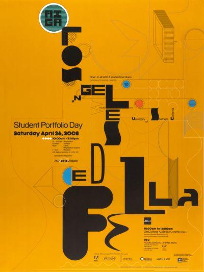 CalArts poster: Student Portfolio Day by Diego Padilla