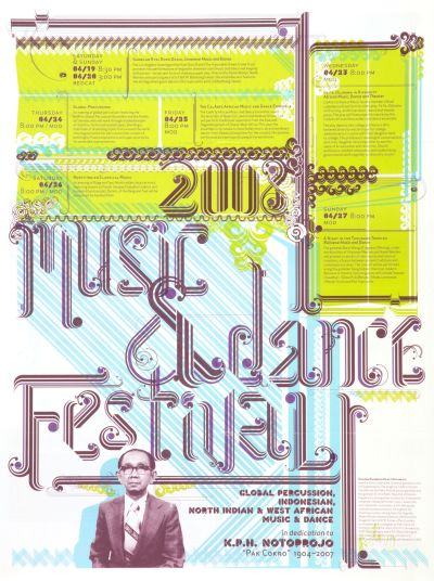 CalArts poster: 2008 Music & Dance Festival by Peter Kaplan