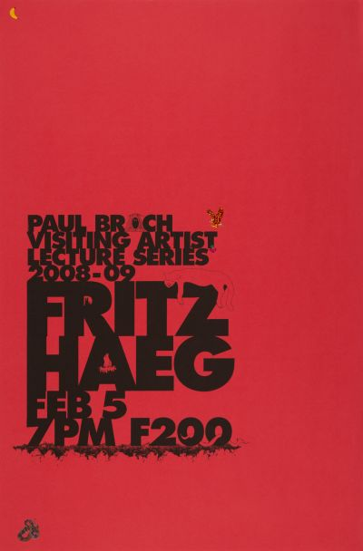 CalArts poster: Fritz Haeg by Devin Dailey