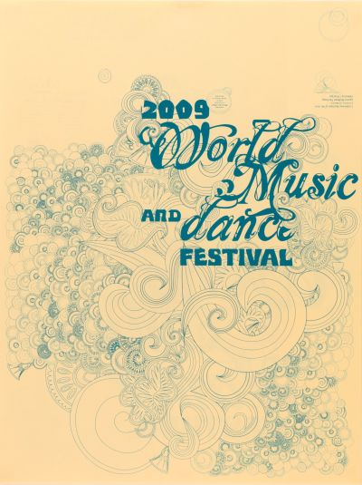 CalArts poster: World Music And Dance 1 by Peter Kaplan Tasheka Arcenaux