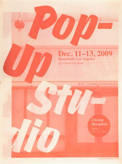 CalArts poster: Pop Up Studio_1 by Ania Diakoff
