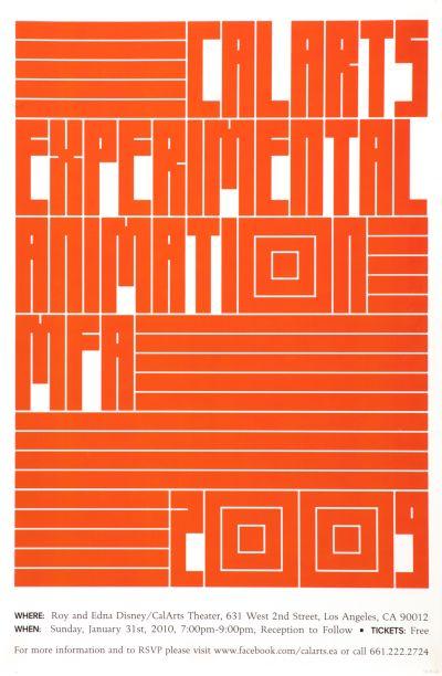 CalArts poster: CalArts Experimental Animation MFA 2009 by