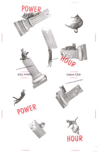 CalArts poster: Power Hour Leisure Club by Neil Doshi Scott Barry