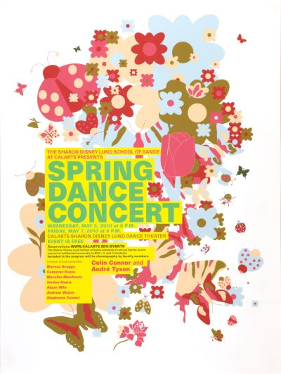 CalArts poster: Spring Dance Concert by