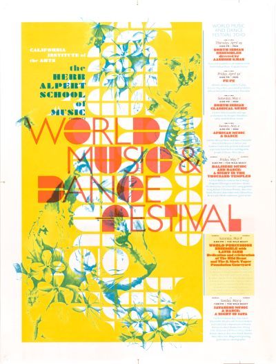 CalArts poster: World Music & Dance Festival by Peter Kaplan