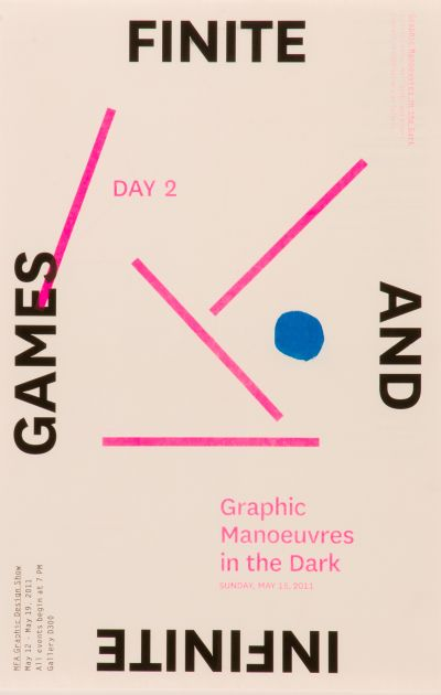 CalArts poster: Finite And Infinite Games by Danae Moore Kate Johnston Scott Massey Tim Belonax